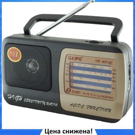 Радиоприемник KIPO KB-408AC - мощный Фм радиоприемник c usb, Fm радио, фото 2
