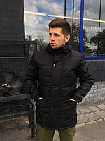 Мужская куртка Зимняя с капюшоном Haipp - Imperial Black (черная)