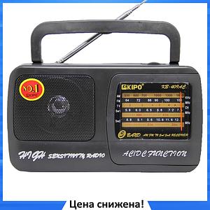 Радиоприемник KIPO KB-409AC - мощный Фм радиоприемник c usb, Fm радио