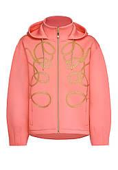 Faberlic Легкая куртка с капюшоном цвет оранжево-розовый размер 40 42 44 46 48 50 52 54 56 Арт-волна 057W1101