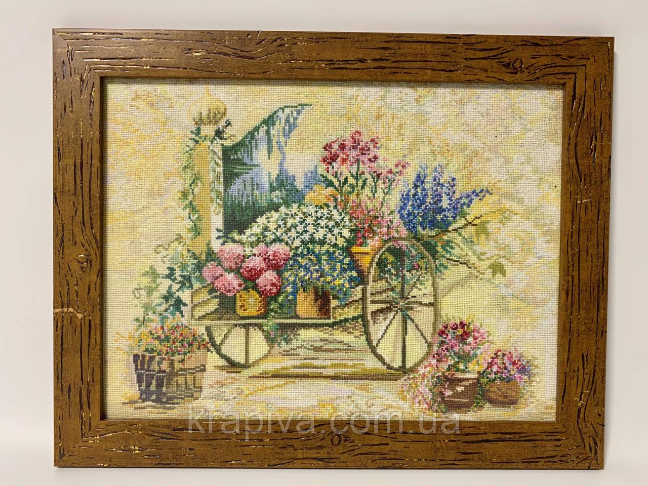 Картина вышивка Повозка 46*36, ручная работа, картина вишивка ручної роботи