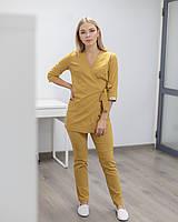 Медицинский женский костюм Шанхай горчичный, фото 1