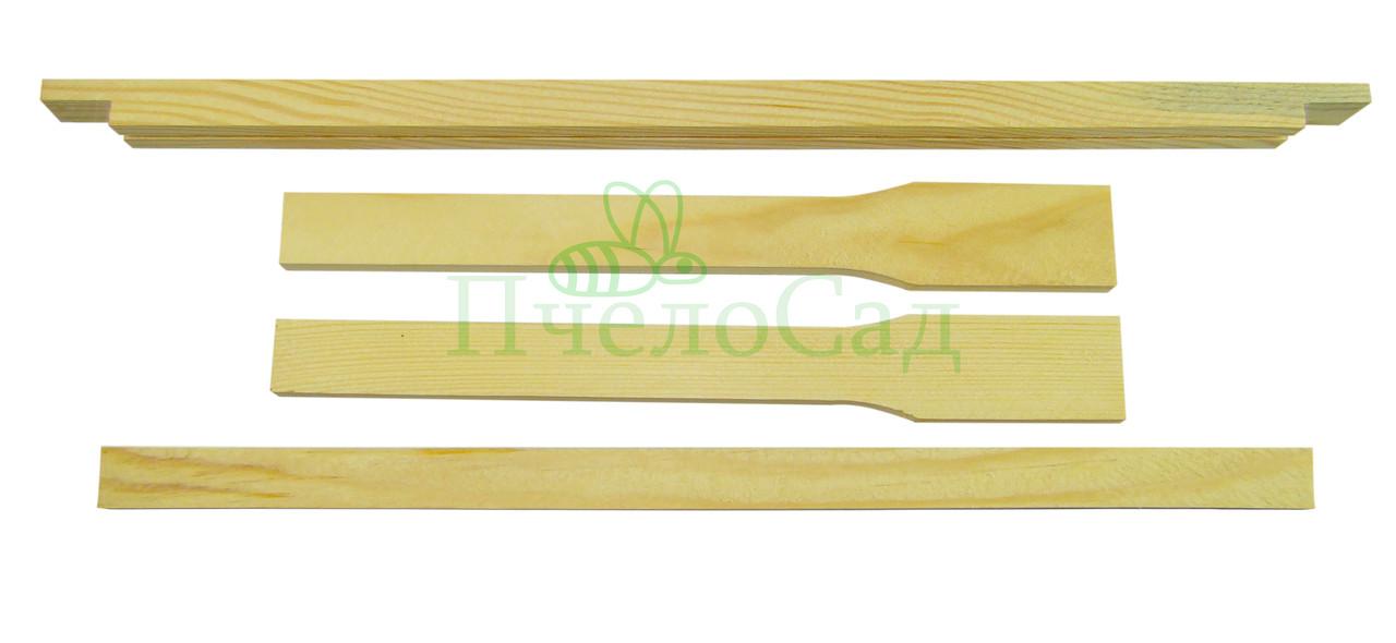 Рамка для ульев Дадан (435х300), сосна, СТАНДАРТ, с разд. Гофмана