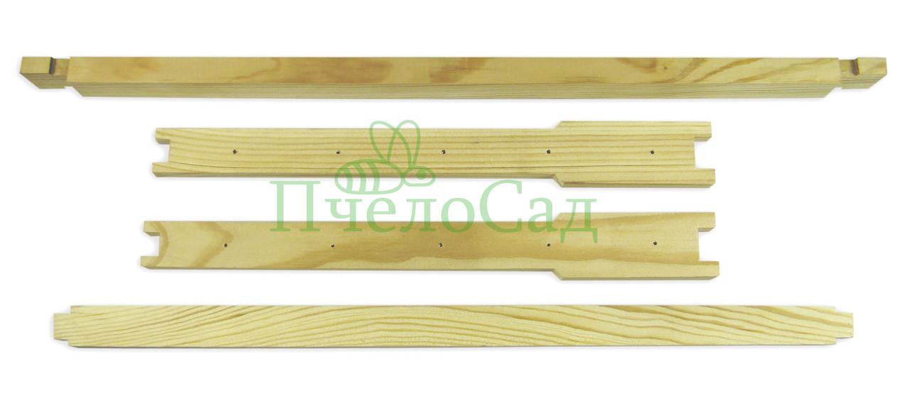 Рамка для ульев Дадан (435х300), сосна, ЕВРО, с отверстиями