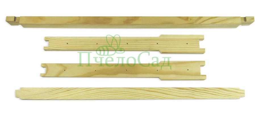 Рамка для ульев Дадан (435х300), сосна, ЕВРО, с отверстиями, фото 2