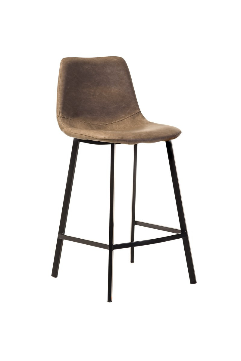 Полубарный стул В-16 бежевый антик Vetro Mebel, экокожа