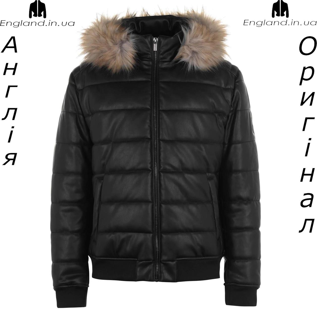 Куртка кожаная PU мужская Firetrap из Англии - демисезонная