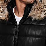 Куртка кожаная PU мужская Firetrap из Англии - демисезонная, фото 7