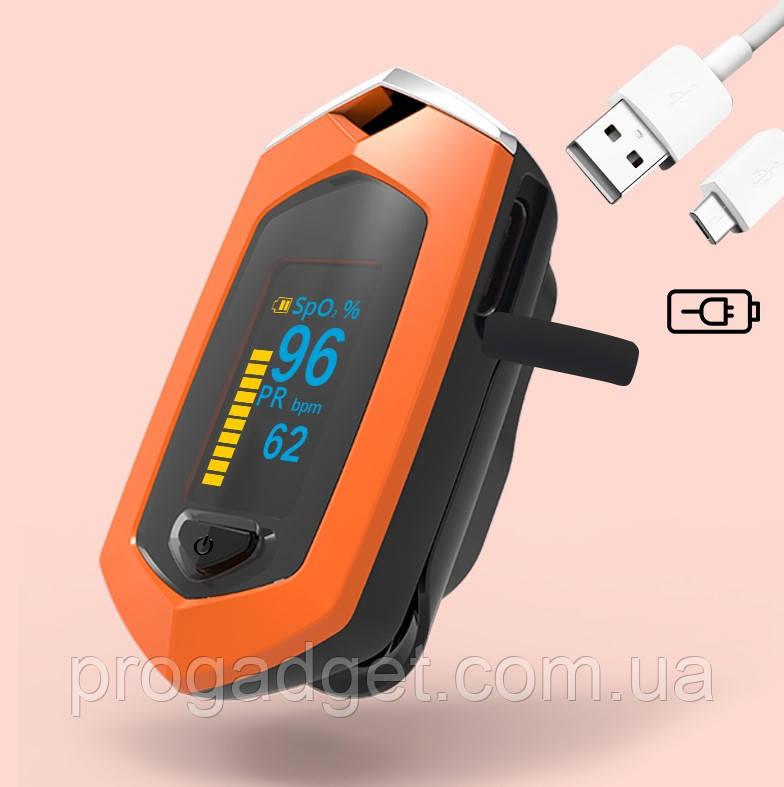 Пульсоксиметр на палец  Boxym oSport перезаряжаемый пальчиковый пульсометр измерение кислорода в крови.