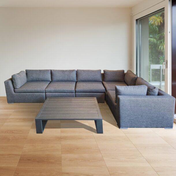 Модульный комплект мебели LAUREN с кофейным столиком и пуфом