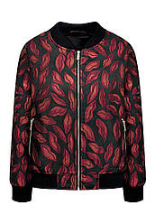 Faberlic Куртка-бомбер с жаккардовым рисунком цвет алый размер 40 42 44 46 48 50 52 54 56 by Alexandr Rogov