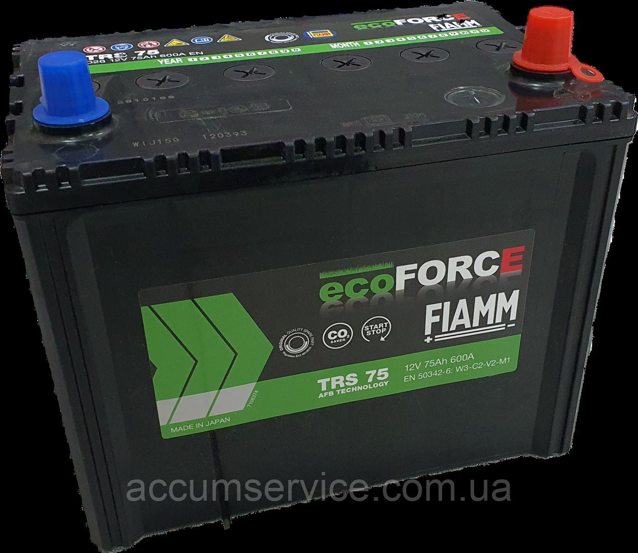 Акумулятор FIAMM ECOFORCE AFB TRS75  D26 FLA1 0
