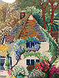 Картина вышивка Домик 25*31 см, ручная работа, картина вишивка ручної роботи, фото 2