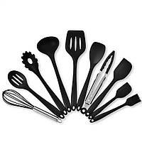 Набор кухонных принадлежностей (10шт), черный, фото 1