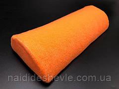 Подушка для маникюра, полукруг. Оранжевый