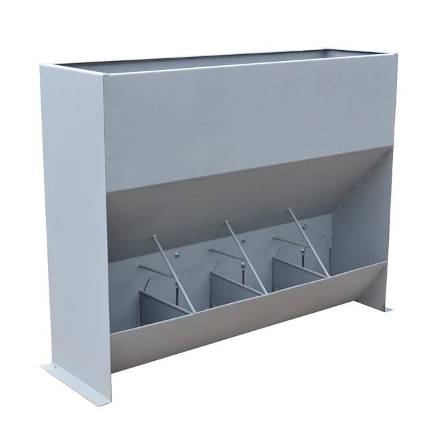 Бункерная кормушка для свиней на 4 кормоместа