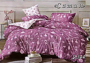 Комплект постельного белья Тет-А-Тет ( Украина ) Сатин двухспальное (S-344)