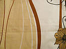 """Красивое постельное белье """"Кофе и цветы"""" бязь Ранфорс Евро размер, фото 2"""