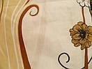 """Красивое постельное белье """"Кофе и цветы"""" бязь Ранфорс Евро размер, фото 3"""