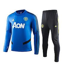 Мужской тренировочный костюм Манчестер Юнайтед NEW 2020 синий