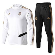 Мужской тренировочный костюм Реал Мадрид NEW 2020 белый