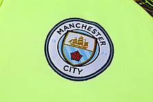 Мужской тренировочный костюм Манчестер Сити 19/20 салатовый, фото 2