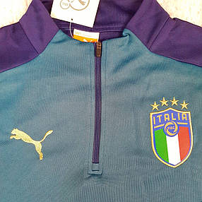 Мужской тренировочный костюм сборной 2020 Италия темно-зеленый, фото 2
