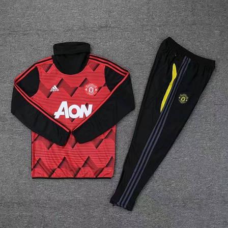 Мужской тренировочный костюм 19/20 Манчестер Юнайтед с горлом красный, фото 2