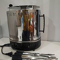 Электрошашлычница Помощница на 11 шампуров с таймером + запасная колба