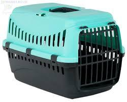 Переноска GIPSY 2 ДЖИПСИ 2  large для больших кошек и собак, пластиковые двери, 58 х 38 х 38 см, голубая