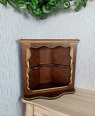 Полка для икон в угол из дерева от производителя (цвет на выбор), фото 3