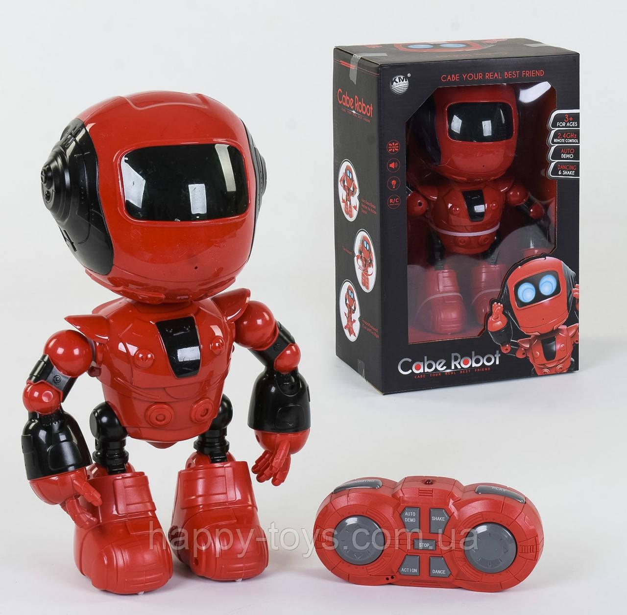 Робот на пульте управлении 2028-81 А, цвет Красный, подсветка, мелодия