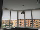 Рулонные шторы Len. Тканевые ролеты Лен Белый 0800, 60, фото 3