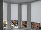 Рулонные шторы Len. Тканевые ролеты Лен Белый 0800, 60, фото 6