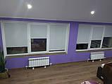Рулонные шторы Len. Тканевые ролеты Лен Белый 0800, 60, фото 7
