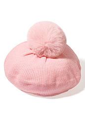 Faberlic Берет с помпоном для девочки цвет розовый для детей арт 55277