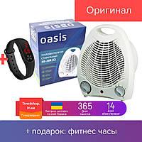 Тепловентилятор бытовой электрический , портативный вентилятор, обогреватель для дома, дуйчик OASIS SB-20R