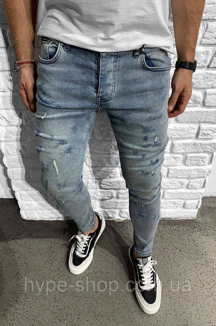 Мужские синие джинсы Все Размеры
