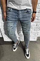 Мужские синие джинсы Все Размеры, фото 1