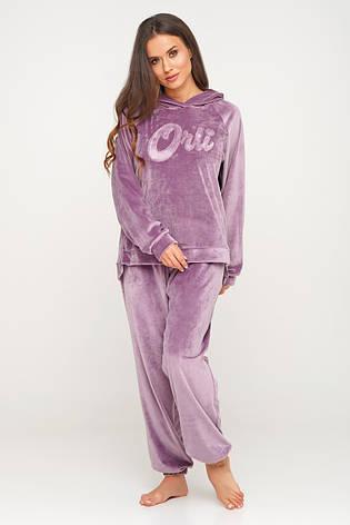 Теплый костюм из плюшки кофта и штаны из микрофлиса, фото 2