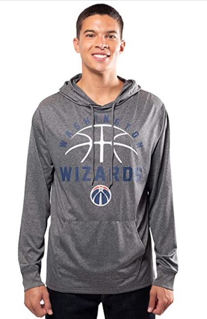 Спортивная худи Ultra Game NBA Men's Super Soft Lightweight Pullover Hoodie Sweatshirt - Heather Charcoal (L)