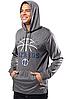 Спортивная худи Ultra Game NBA Men's Super Soft Lightweight Pullover Hoodie Sweatshirt - Heather Charcoal (L), фото 3