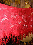 Шарф-палантин шерстяной ручного валяния, фото 4