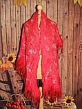 Шарф-палантин шерстяной ручного валяния, фото 2
