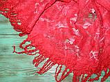 Шарф-палантин шерстяной ручного валяния, фото 6