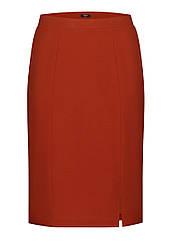 Faberlic Юбка из крепа цвет тёмно-красный размер 56 58 60 62 54 Минимализм арт 525769
