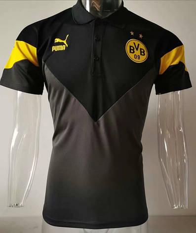 Мужская футболка поло Боруссия NEW 2020 черная, фото 2