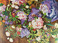 Картина вышивка Цветы 56*45 см, ручная работа, картина вишивка ручної роботи, фото 3
