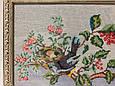 Картина вышивка Райские птицы шелк 54*24 см, ручная работа, картина вишивка ручної роботи, фото 3
