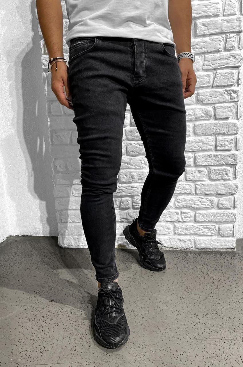 Чоловічі джинси чорні Black Island 6222-3428